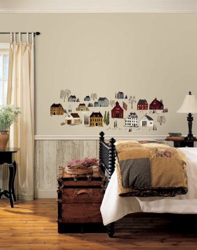 Wall In A Box WIB1009 Simple Life Wallpaper, Burgundy, Blue, White, Gold, Natural Off White