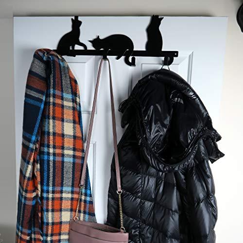 Evelots Over The Door Multi - Hook Hanger Organizer Towel-Coat Rack Cat Design