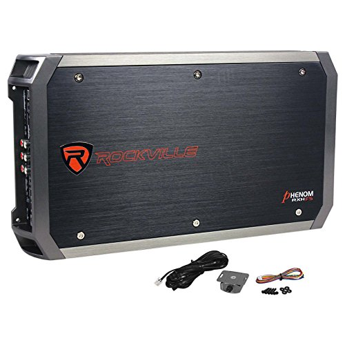 Rockville RXH-F5 3200 Watt Peak/1600w RMS 5 Channel Amplifier Car Stereo Amp 8 Channel Digital Amplifier
