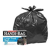 Handi-Bag Handi-Bag Super Value Pack, 30 galones, 0.65 mililitros, 30 x 33, negro, 60 /caja (HAB6FT60)