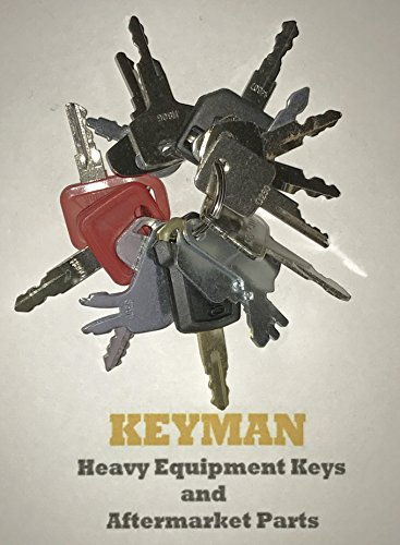Keyman 16 Keys Heavy Equipment Key Set / Construction Ignition Keys Set