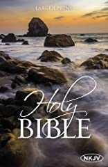The NKJV Holy Bible is offered in this larger print,affordable edition for personal and ministry use including book introductions, plan of salvation, and 10 pt. font size.