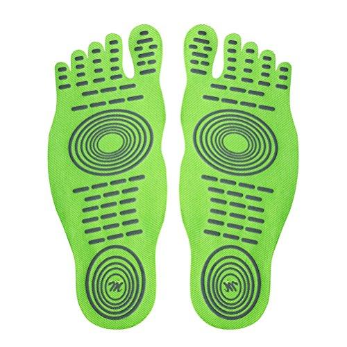 Surf Nus Plage Antidérapant 1 Piscine Semelle Chaussettes Vert Le Sur Semelles paire Intérieure DD amp;D Pieds D fluorescent Aux Footpad pour Stick 0Rqw4FaxnC