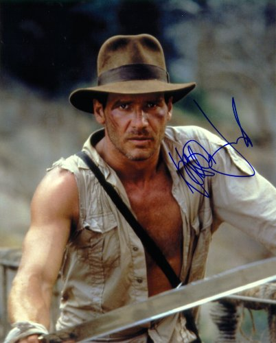 Harrison Ford in Indiana Jones Signed Autographed Movie 8 X 10 Reprint Photo - (Mint Condition) (Indiana Jones Movie Memorabilia)
