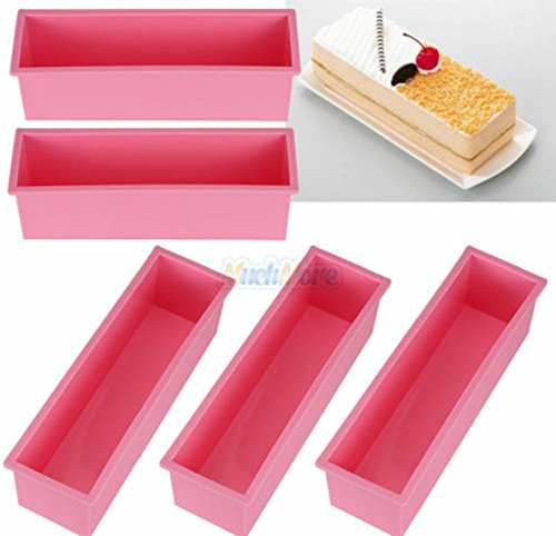 1.2L Rectangle Loaf Toast Bread Pastry Cake Soap Silicone Mold - 4