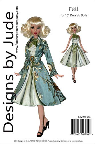"Fall Coat & Dress Doll Clothes Sewing Pattern for 16"" Deja Vu Dolls Tonner"