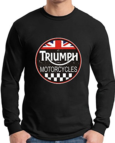 Triumph Long Sleeve T Shirt Old Tin Sign ()