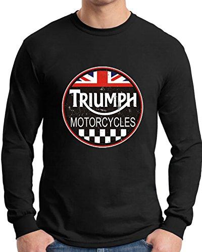 Triumph Long Sleeve T Shirt Old Tin Sign Logo