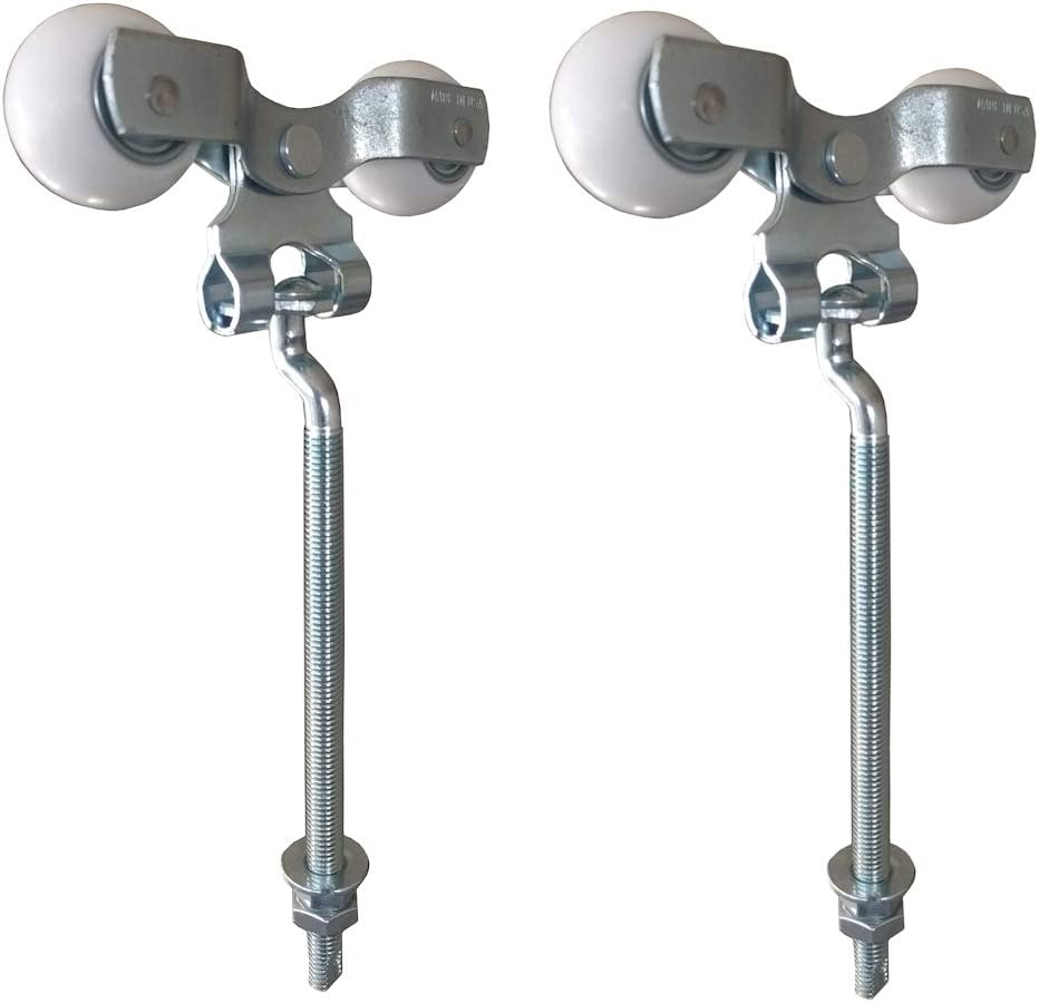 9 Bolt Trolley with Delrin Round Wheels Pair