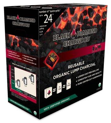 Black Diamond Charwood BD118 Organic Lump Charcoal, Hardwood, 1.18 Cu. Ft. - Quantity 108 by Black Diamond CharWood