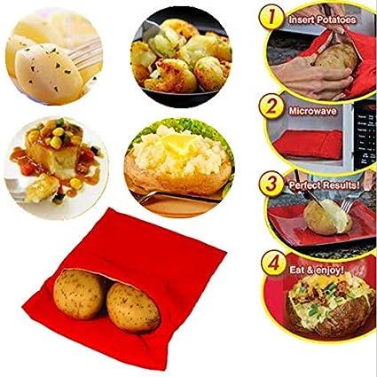 Microwave Potato Cooker Bag Tortillas Cooker Bag Washable Reusable Bag