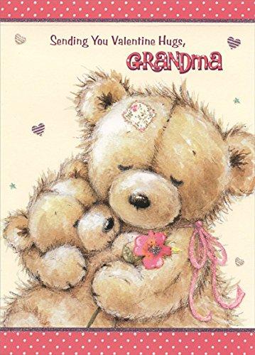 Amazon teddy bear hug grandma designer greetings from child teddy bear hug grandma designer greetings from child valentines day card m4hsunfo