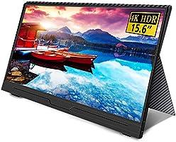 Uperfect 4K 15.6インチ モバイルモニター 3840*2160@60hz/超薄/NTSC72%色域/IPSパネル モバイルディスプレイ USB Type-C/HDMI/Nintendo Switch/PS4...
