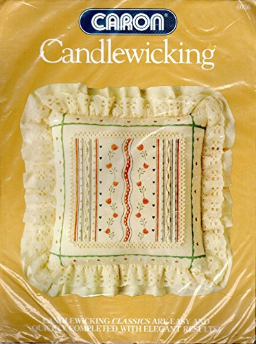 """Dutch Tulip Square Pillow - Candlewicking Embroidery Kit # 6036-14""""x14"""""""