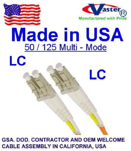 Made In USA、10個/パック – 30 m – LC – LC 50 /125マルチモードデュプレックス) ガラス光ファイバケーブルPVCタイプ B00J1R2SEO