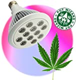 Pot Wizard TM LED Grow Light for Bigger Stronger and Faster Herbal Harvest. This Light for More Buds