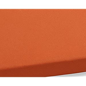 Pillow Perfect Indoor/Outdoor Cinnabar Bench Cushion, Burnt Orange