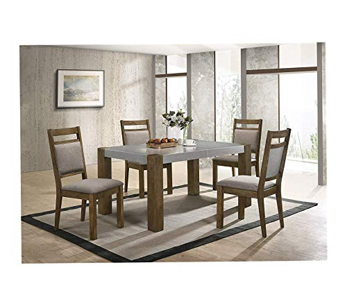 Deluxe Premium Collection Costabella 5 PC Dining Set Table with 4 Chairs Decor Comfy Living Furniture