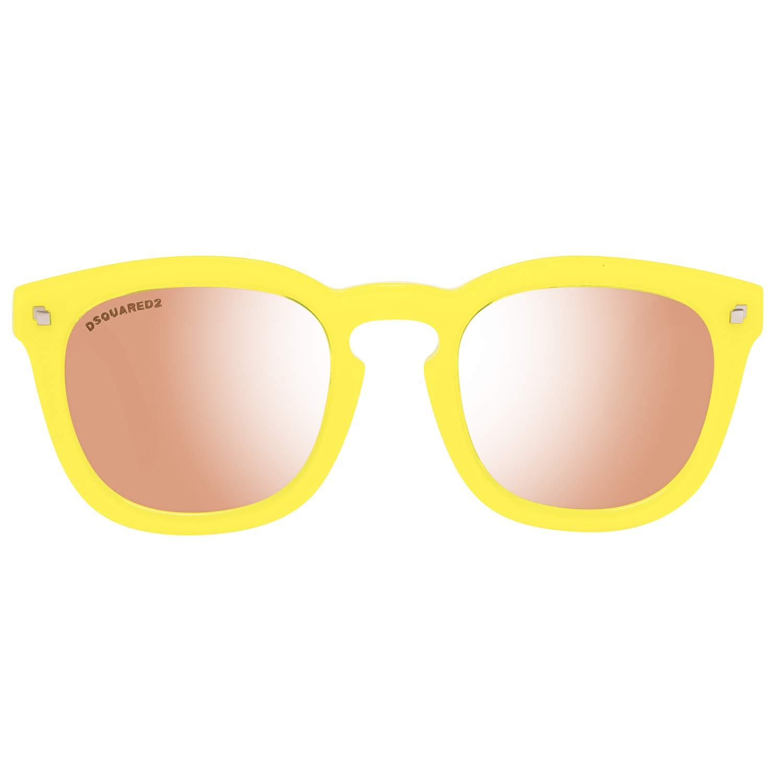 Unisex-Adulto DSQUARED2 Sunglasses Dq0198 41G 49 Occhiali da Sole Giallo Gelb