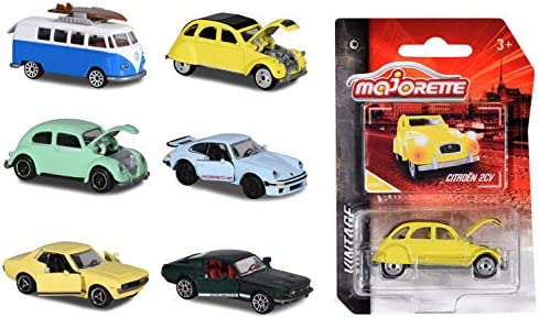 Majorette 212052010 Citroen 2CV gelb//schwarz Vintage 1:64 Modellauto NEU!°