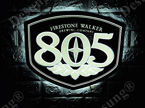 Desung Revolutionary Firestone-Walker Brewing 805 3D LED Neon Light Sign (Multiple Sizes Available) Vivid Printing Tech Design Decorate 3rd Generation LED Sign 17'' LE08M