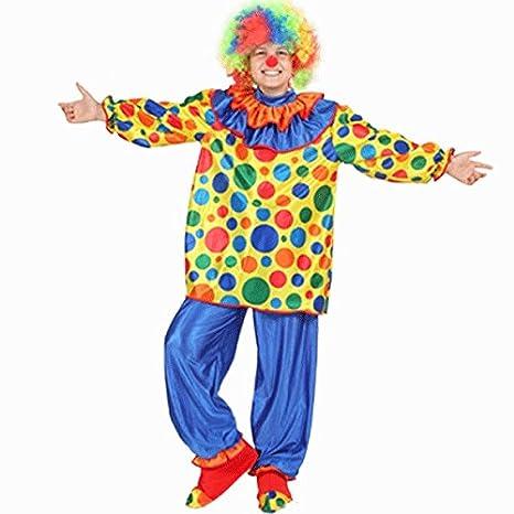 Vestito Costume Maschera Di Carnevale Bambino Pagliaccio Clown