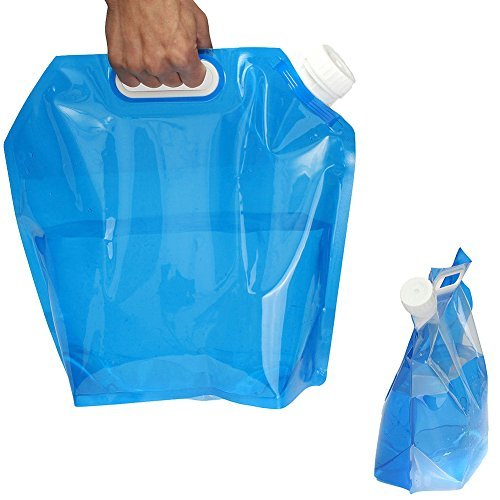broadroot plegable 5L agua potable carrier Container bolsa portátil azul elevación bolsa para viaje camping senderismo BBQ Party