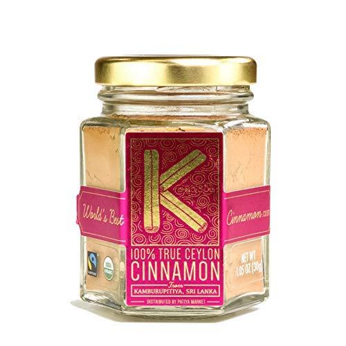 Highest Quality Premium Organic Ceylon Cinnamon Trio with Ground Powder (30g), Whole Sticks (45g), and Bark Oil by Patiya Market from Kamburupitiya, Sri Lanka - Zero Fillers, Raw, Gluten-Free, Non-GMO by Kamburupitiya Cinnamon (Image #1)
