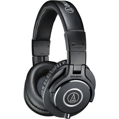 Audio-Technica ATH-M40x Monitor Headphones (Black) - Includes - Carry Pouch and 1-Year Extended Warranty