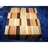 "Hardwoods Various Super Laminated Exotic Wood Lumber Bowl Blank Block, 6"" x 6"" x 3''"
