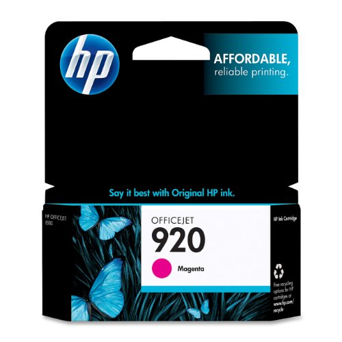 HP 920 Magenta Original Ink Cartridge For HP Officejet 6000, 6500,7000, 7500 (6000 Officejet Hp Wireless)