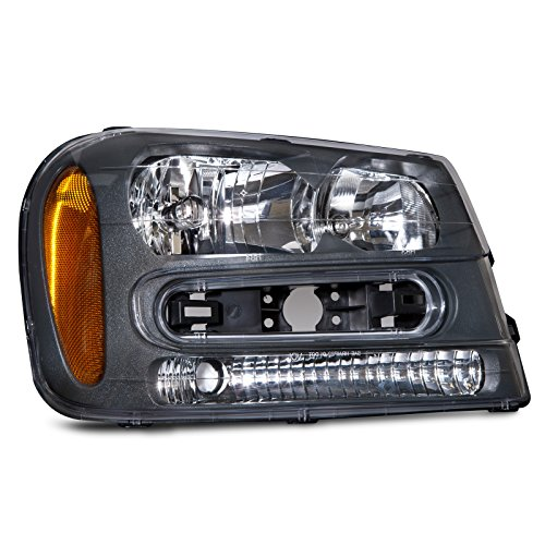 HEADLIGHTSDEPOT Compatible with Chevy Trailblazer LT/LS/SS Headlight OE Style Headlamp Passenger Side New Blazer Passenger Side Headlight