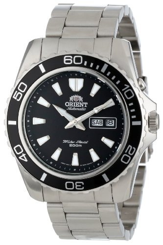 Orient Men's'Mako XL' Japanese Automatic Stainless Steel Diving Watch, Color:Silver-Toned (Model: FEM75001BW)