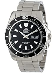 Orient Mens Mako XL Japanese Automatic Stainless Steel Diving Watch, Color Silver-Toned (Model: FEM75001BW)
