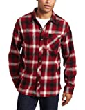 Quiksilver Men's Fog Woven Regular Fit Shirt, Rich Red, XX-Large