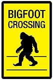 Bigfoot Crossing Sign Plastic Sign 12 x 18in