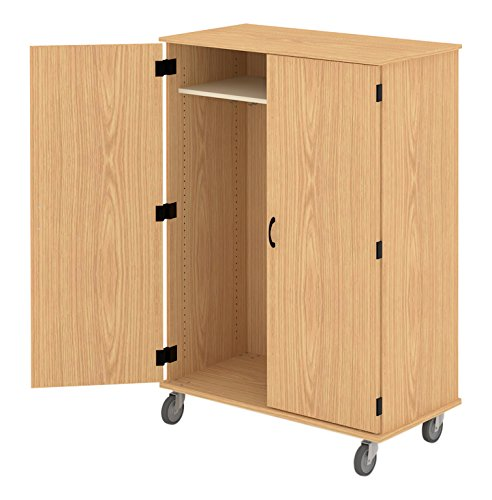 Fleetwood 97.7283.101.000-fsnmple Wardrobe with Doors/Hooks and Light Oak Trim in Fusion Maple (Maple Oak Armoire)
