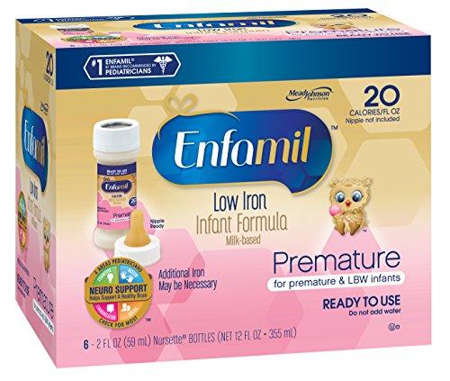 Enfamil Premature Low Iron 20 Calorie Nursette, 2-Ounce, 6-C