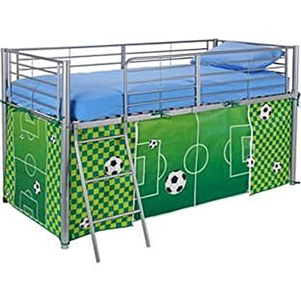 new york 4acd1 d12ad Argos Boys Football Tent Mid Sleeper Bed Bedroom Green Kids Storage Toys  Games Boys Mid Sleeper Tent