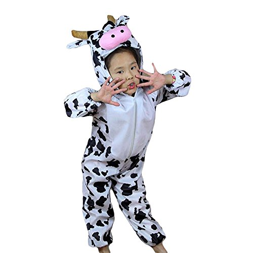 [Moolecole Halloween Christmas Kids Costume Toddler Baby Animal Costume Cow M] (Tiana Costume For Infant)
