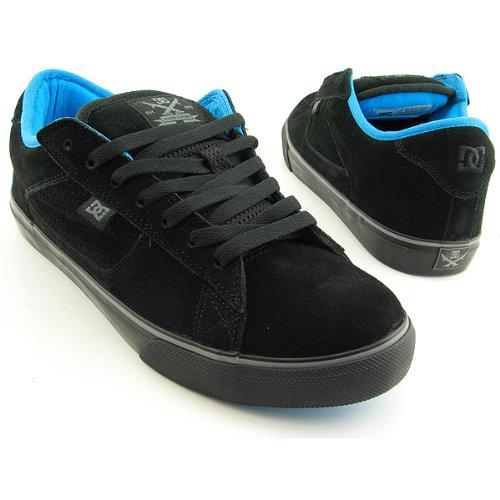 DC Shoes DC SHOES True S Black Black - Zapatillas de piel de cerdo para hombre negro Black Black