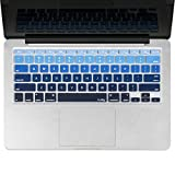 Best Kuzy Macbook Air 13 Inch Cases - Kuzy - BLUE Ombre Colors Keyboard Cover Silicone Review