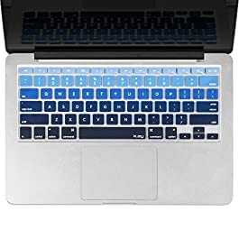 Kuzy – MacBook Keyboard Cover for Older Version MacBook Pro 13, 15, 17 inch and MacBook Air 13 inch, iMac Wireless…
