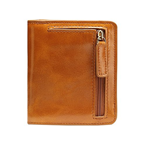 - Dig dog bone Fashian Genuine Leather Super Light Purse Unisex Hand Bag Zero Wallet Anti-Theft Security Multi-Color Optional Mini Pack (Color : Brown)
