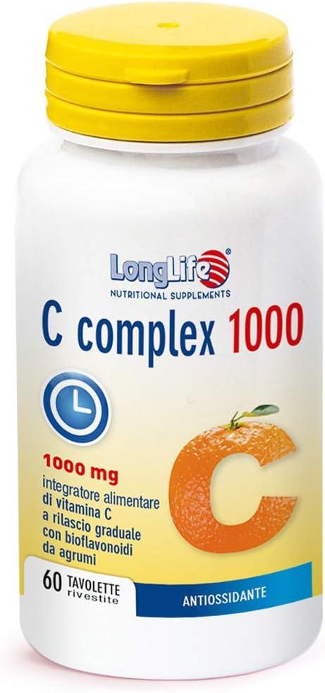 Vitamina c longlife c complex 1000 t/r - 120 gr 8054521000508