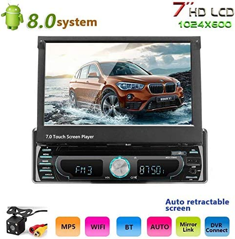 Podofo Estéreo Automóvil Android GPS WiFi Pantalla táctil Navegación DVD FM / AM / AUX / USB / MP3 / MP4 (con cámara inversa de 4 LED): Amazon.es: Coche y moto