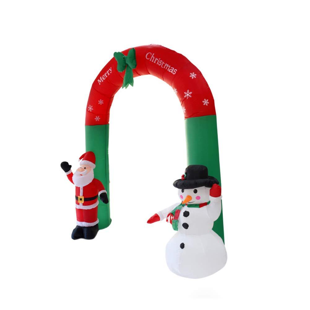 Amazon.com: Elegante arco de Papá Noel y muñeco de nieve ...
