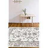 4535 Distressed Cream 5'2x7'2 Area Rug Carpet Large New