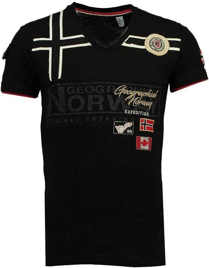 Geographical Norway Camiseta Hombre JARADOCK SS 100 Negro XL ...