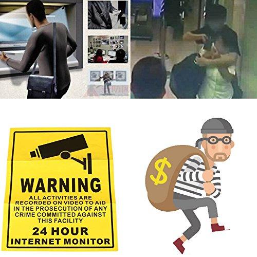 Giantree Monitor de CCTV Pegatinas de Advertencia, 24Horas Monitor en cámara CCTV Vedio Alerta Seguridad Pegatinas de...